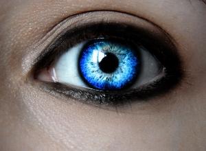 Mavi Göz Fotoğraf Kanvas Tablo
