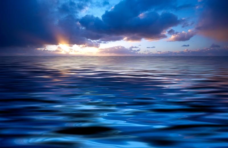 Mavi Mor Deniz Manzarası Kanvas Tablo