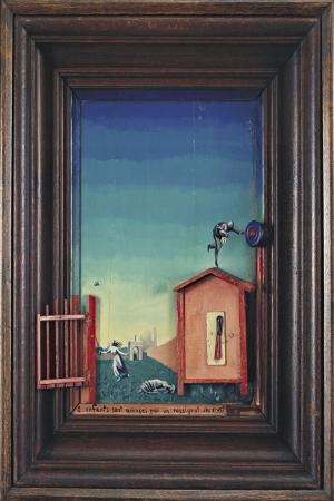 Max Ernst Hemsire Tarafindan Korkutulan Iki Cocuk Yagli Boya Klasik Sanat Kanvas Tablo