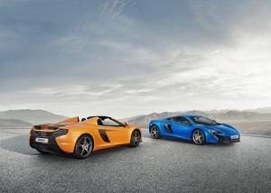 McLaren 650S Coupe Spryder Sarı ve Mavi Otomobil Kanvas Tablo