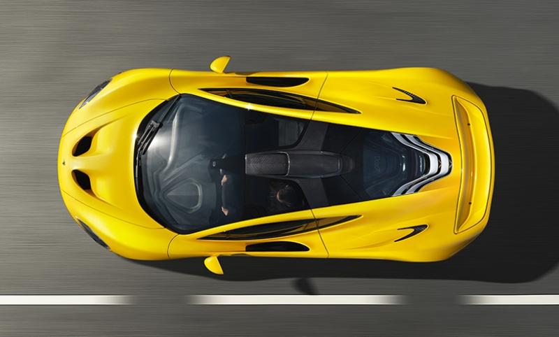 Mclaren Sarı Spor Otomobil ve Hız Kanvas Tablo