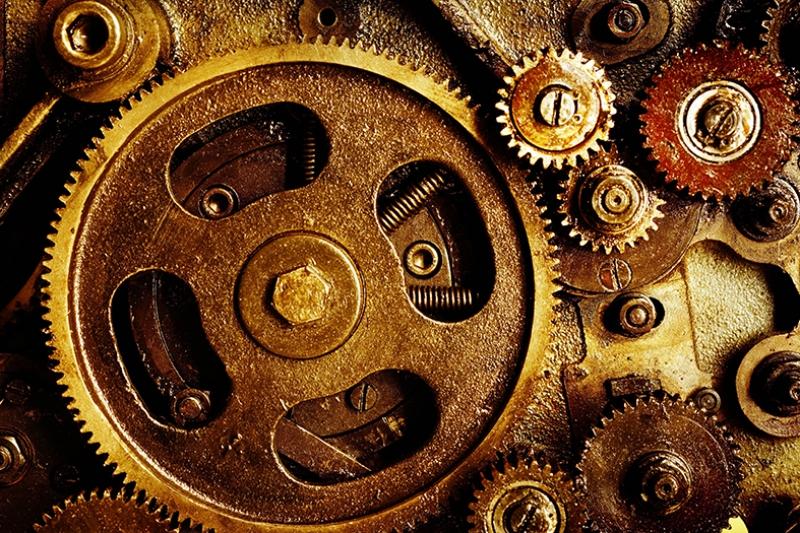 Mekanik Fotoğraf Kanvas Tablo