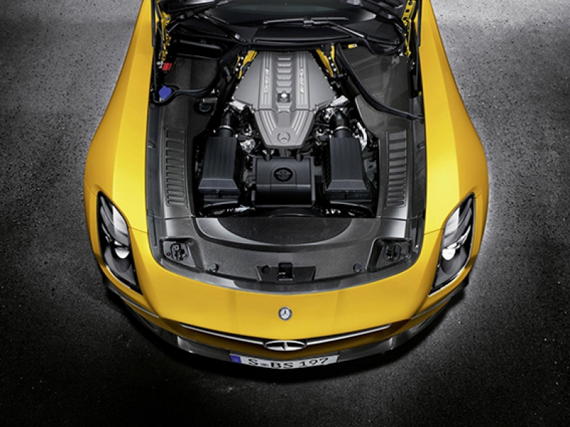 Mercedes Amg Sarı Otomobil Kanvas Tablo