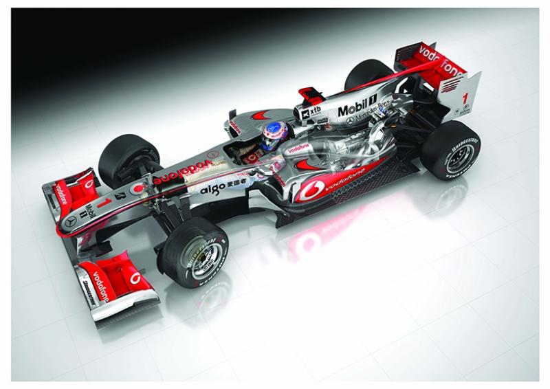 Mercedes Benz Formula Otomobil Kanvas Tablo