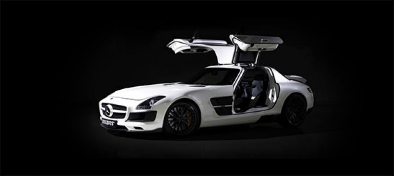 Mercedes Benz SLS AMG Brabus Beyaz Otomobil Kanvas Tablo