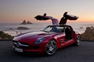 Mercedes Benz Sls Amg Kırmızı Otomobil Kanvas Tablo