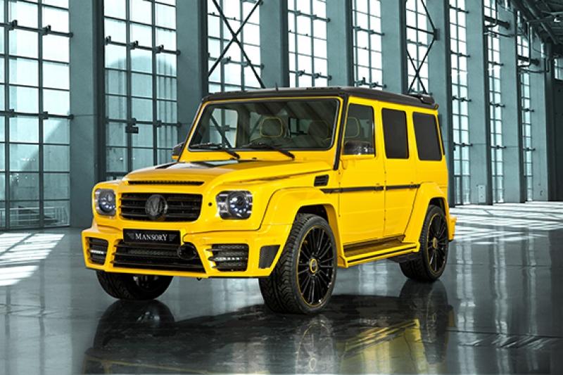 Mercedes Jip Sarı Modifiyeli Kanvas Tablo