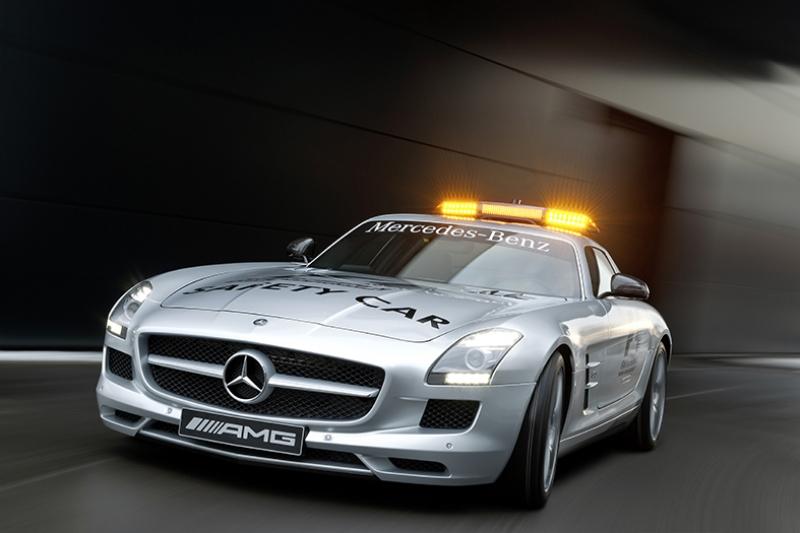 Mercedes SLS AMG Formula Safety Car Otomobil Araçlar Kanvas Tablo