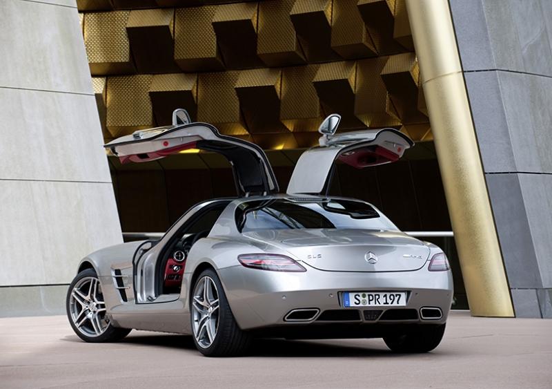 Mercedes Sls Amg Gri Otomobil Kanvas Tablo