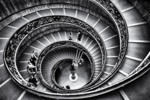 Merdivenler Mimari Fotoğraf Kanvas Tablo