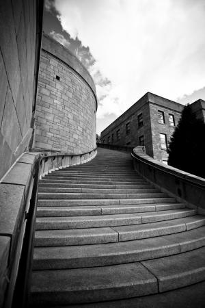 Merdivenler Siyah Beyaz Fotoğraf Kanvas Tablo