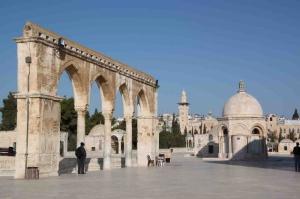 Mescidi Aksa Avlu Dini İnanç Kanvas Tablo