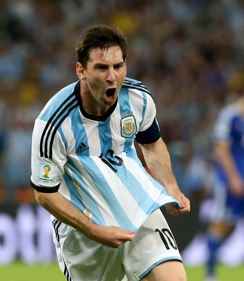 Messi Gol Sevinci Spor Kanvas Tablo