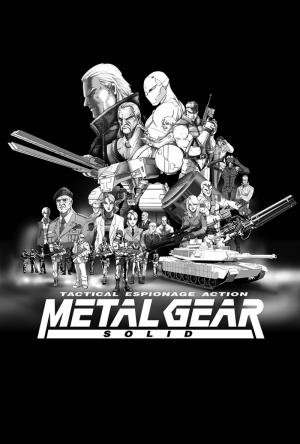Metal Gear Solid Art Oyun Popüler Kültür Kanvas Tablo