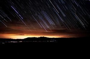 Meteor Yağmuru Dünya & Uzay Kanvas Tablo
