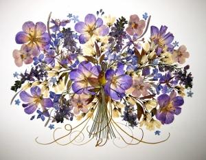 Mevsim Çiçekleri Floral Yağlı Boya Sanat Kanvas Tablo