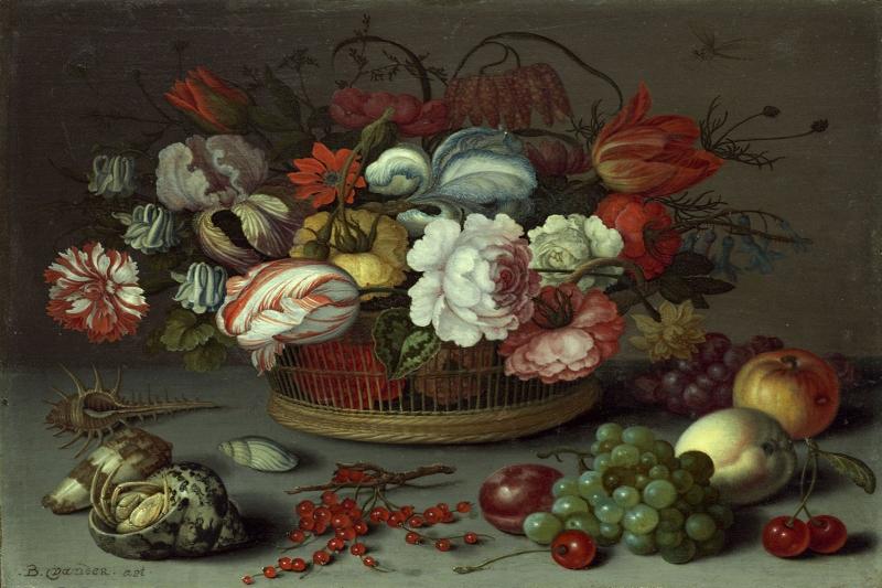 Meyve ve Çiçekler 2 Yağlı Boya Sanat Kanvas Tablo