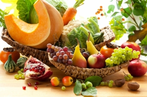 Meyve ve Sebzeler Fotograf Mizansen Lezzetler Kanvas Tablo