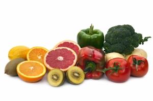 Meyve ve Sebzeler Lezzetler Kanvas Tablo