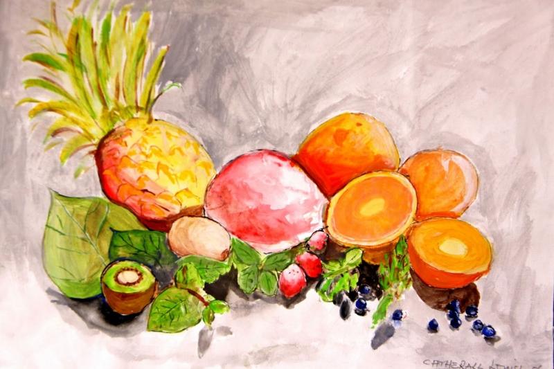 Meyveler Sebzeler 9 Tropik Meyveler Yağlı Boya Sanat kanvas Tablo