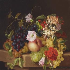 Meyveler ve Çiçekler 1, Dekoratif Kanvas Tablo