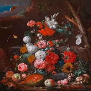 Meyveler ve Çiçekler 4, Dekoratif Kanvas Tablo