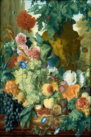 Meyveler ve Çiçekler 5 İç Mekan Dekoratif Kanvas TabLo