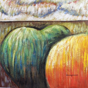 Meyveler ve Sebzeler 1, Büyük Balkabakları Dekoratif Kanvas Tablo