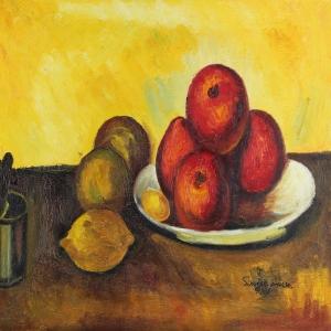 Meyveler ve Sebzeler 5, Meyve Tabağı Dekoratif Kanvas Tablo