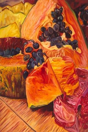 Meyveler ve Sebzeler 3 İç Mekan Dekoratif Kanvas Tablo