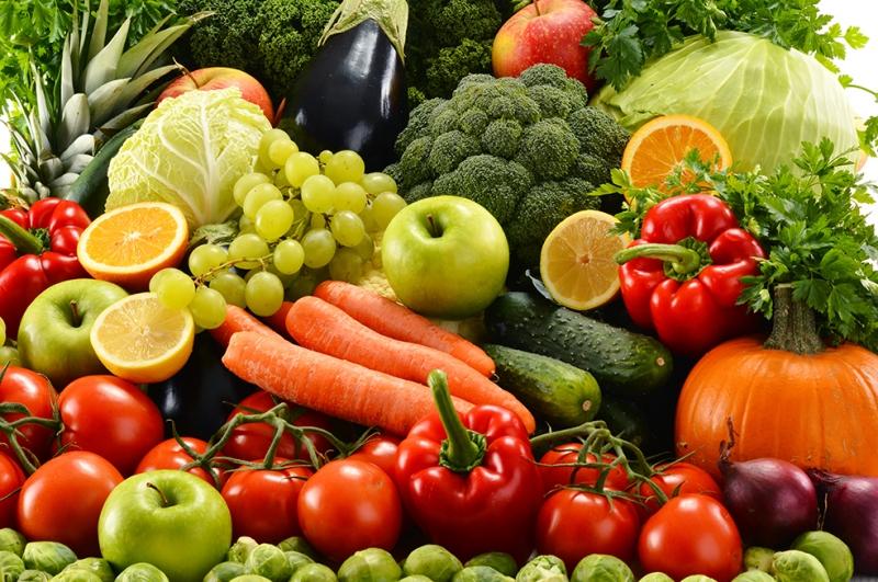Meyveler ve Sebzeler Lezzetler Kanvas Tablo