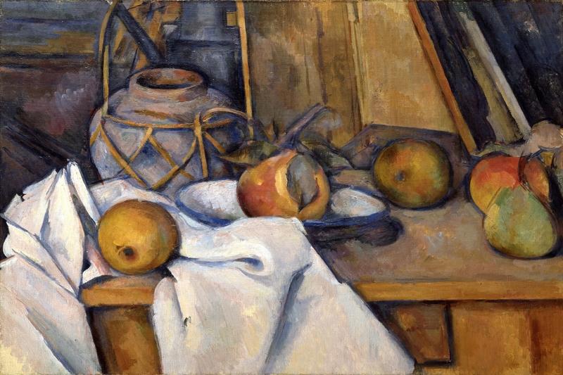 Meyveler Ve Vazo Yağlı Boya Sanat kanvas Tablo