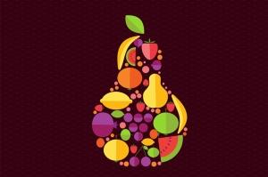 Meyvelerden Armut Popüler Kültür Kanvas Tablo