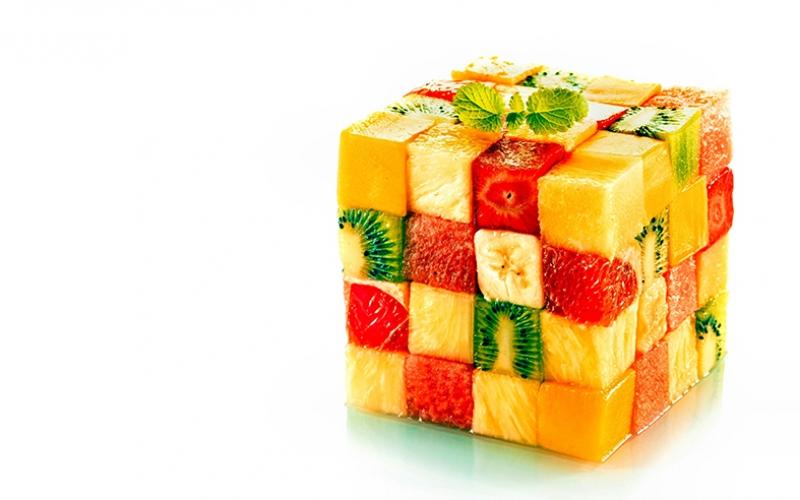 Meyvelerden Rubik Küp Lezzetler Kanvas Tablo