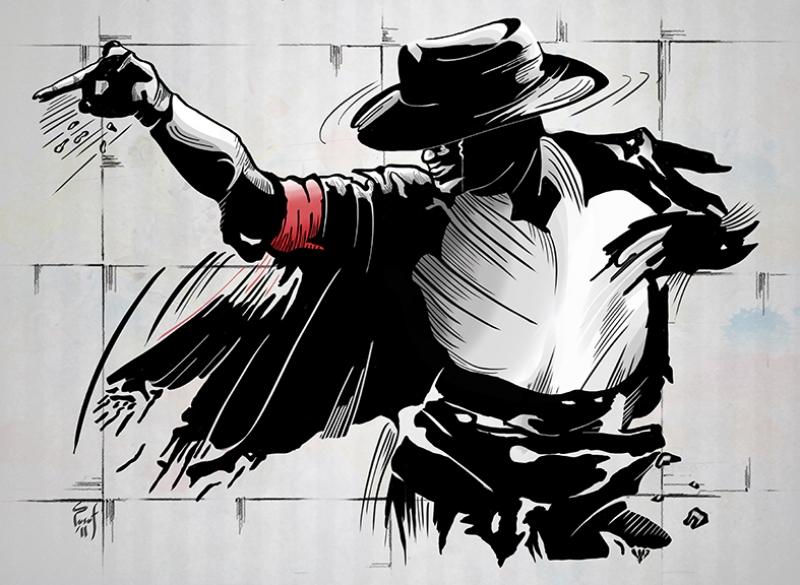 Michael Jackson Dans Popüler Kültür Kanvas Tablo
