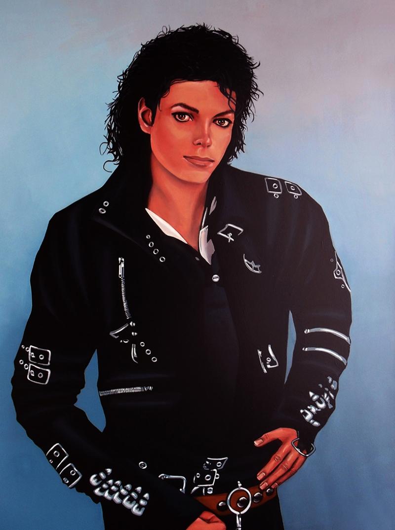 Michael Jackson Ünlü Yüzler Kanvas Tablo 5