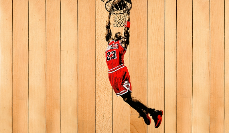 Michael Jordan Chicago Bulls-4 Kanvas Tablo