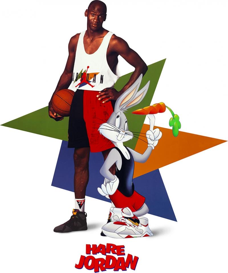 Michael Jordan Chicago Bulls-7 Lonney Tunes Kanvas Tablo