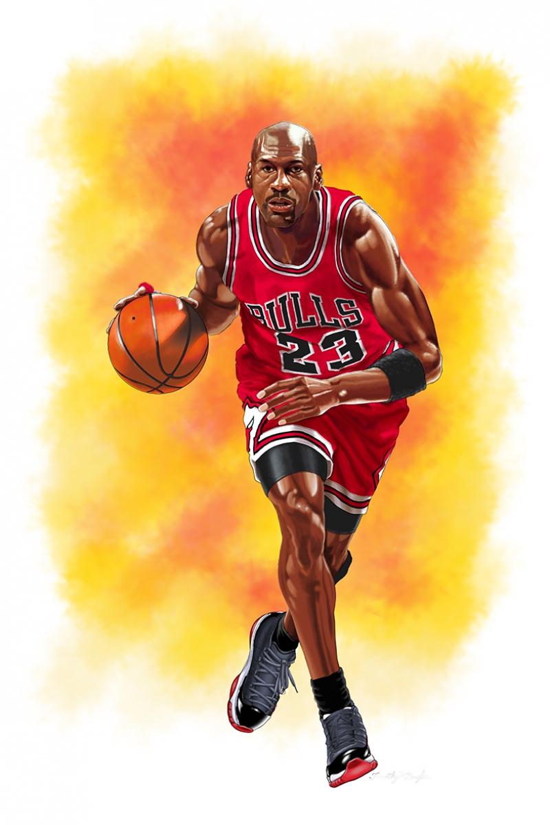 Michael Jordan Chicago Bulls-8 Kanvas Tablo
