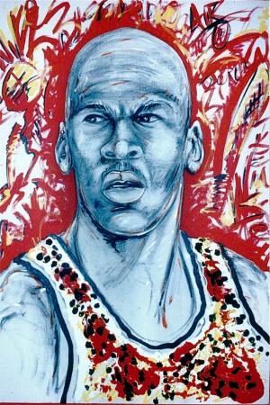 Michael Jordan Popüler Kültür Ünlü Yüzler Pop Art Sanat Kanvas Tablo