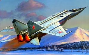 Mig 25u Rusya Savas Ucaklari Yagli Boya Sanat Kanvas Tablo