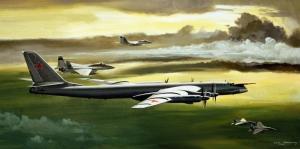 Mig Filosu Rusya Savas Jetleri Askeri Araclar Yagli Boya Sanat Kanvas Tablo
