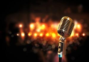 Mikrofon Müzik Kanvas Tablo