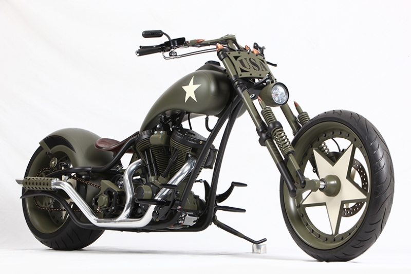 Military Chooper Motorsiklet Araçlar Kanvas Tablo