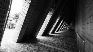 Mimari Siyah Beyaz Fotoğraf Kanvas Tablo