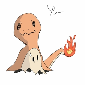 Mimikyu Charmander 11 Pokemon Karakterleri Kanvas Tablo
