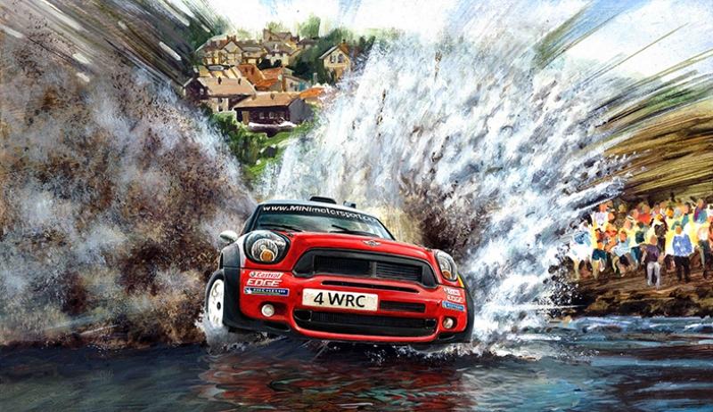 Mini Rally Otomobil Araçlar Kanvas Tablo