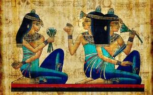 Mısır Papirus Sanat Kanvas Tablo