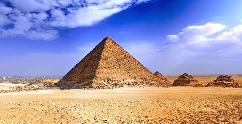 Mısır Piramit Egzotik Tarihi Eser Kanvas Tablo