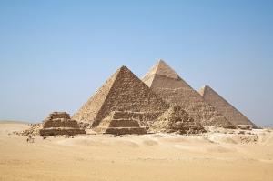 Mısır Piramitler Doğa Manzaraları Kanvas Tablo